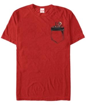 Fifth Sun Marvel Men's Deadpool Peekaboo Faux Pocket Short Sleeve T-Shirt