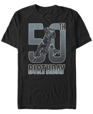 Fifth Sun Men's Marvel Black Panther 50th Birthday Short Sleeve T-Shirt