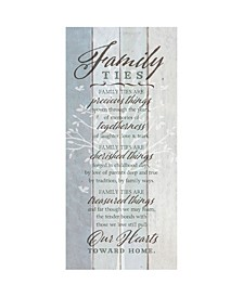 "Family Ties New Horizons Wood Plaque, 5.5"" x 12"""