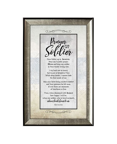 """James Lawrence Company James Lawrence Prayer for Soldier Soulful Journey Framed Wall Art, 8"""" x 12"""""""