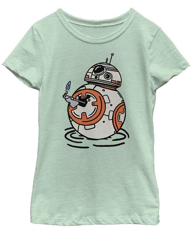 Star Wars Big Girls BB-8 A Light in The Darkness Short Sleeve T-Shirt