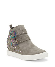 Contemporary Hidden Wedge Little and Big Girls Fashion Sneaker