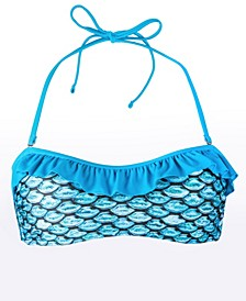 Mermaid Adult Scale-Print Bandeau Bikini Top
