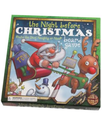 """House of Marbles """"the Night Before Christmas"""" Holiday Board Game"""