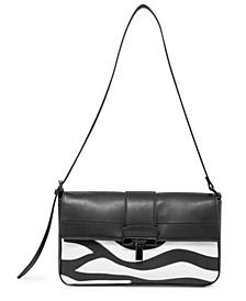 Frida Leather Flap Shoulder Bag