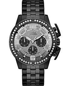 Men's Chronograph Black Stainless Steel Bracelet Watch 46mm