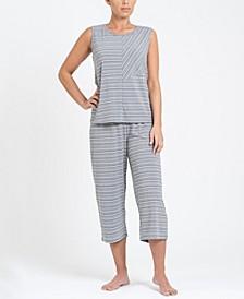 Tank Top and Capri Pant Pajama Set, Online Only