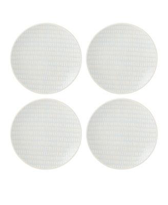 Textured  Neutrals Dobby Accent Plates Set/4