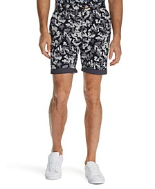 Men's Modern-Fit Stretch Camo Floral Print Shorts
