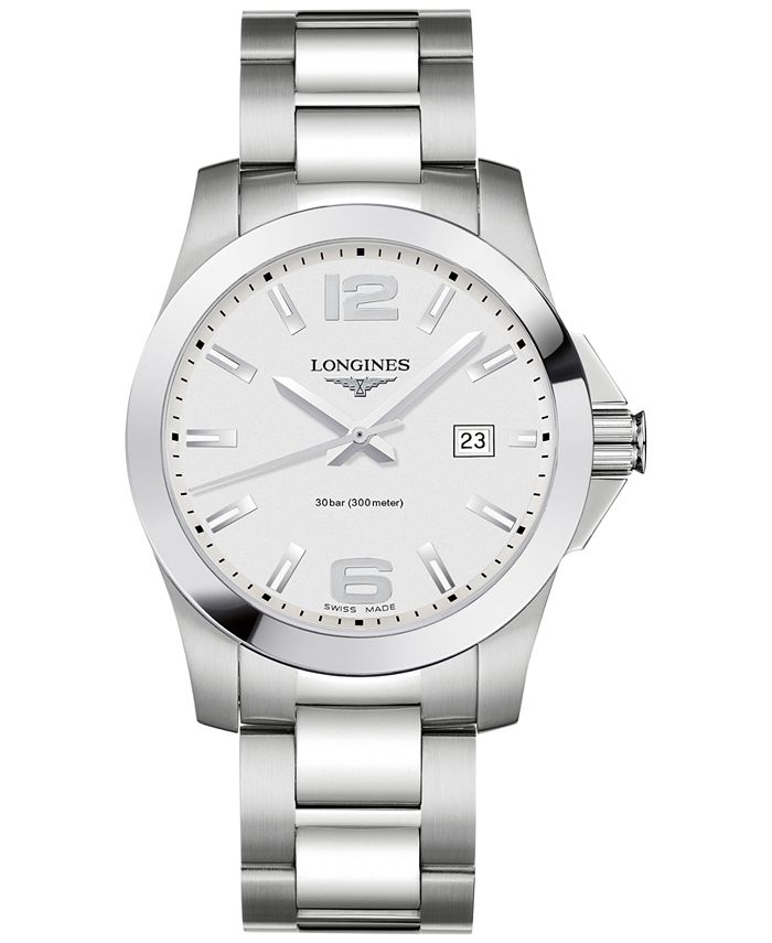 Longines - Men's Swiss Conquest Stainless Steel Bracelet Watch 41mm