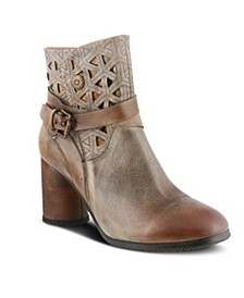 Women's Madonna Cross Over Strap Booties