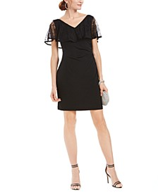 Petite Lace Overlay Sheath Dress