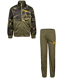 Little Boys 2-Pc. Camo-Print Jacket & Jogger Pants Set