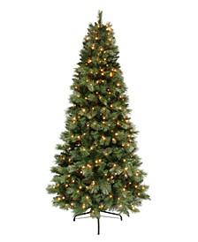 7.5' Pre-lit Dark Green Pine Tree 500 Clear Lights