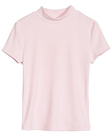 Big Girls Ribbed T-Shirt, Created for Macy's
