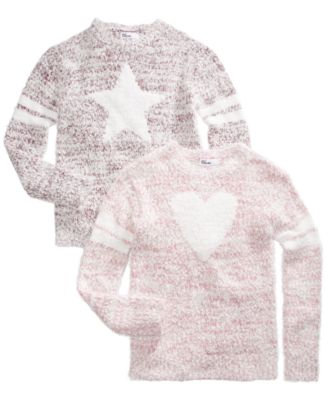 Big Girls Star Stripes Sweater, Created For Macy's