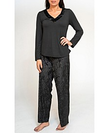 Long Sleeve and Pant Pajama Set, Online Only