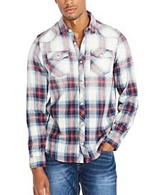 Men's Faded-Plaid Shirt
