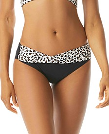 Leopard Printed Banded Bikini Bottoms