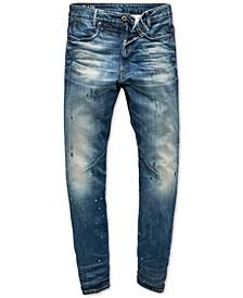 Men's Slim-Fit Paint Splatter Jeans, Created For Macy's