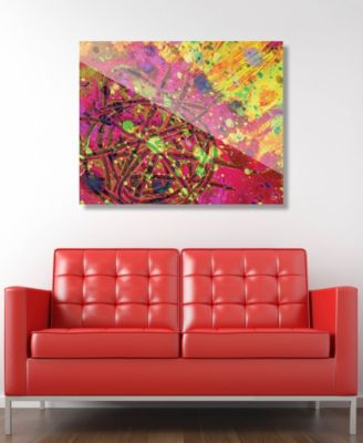 """Espansione in Pink Abstract 20"""" x 24"""" Acrylic Wall Art Print"""