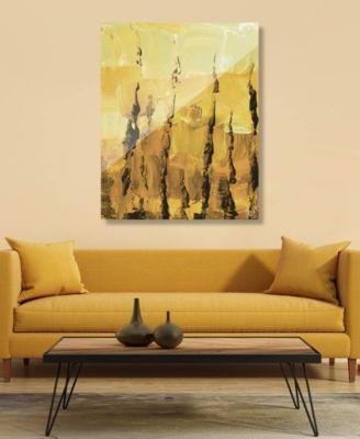"Jangwa in Raw Umber Light Abstract 20"" x 24"" Acrylic Wall Art Print"