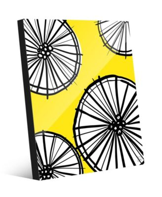 "Lemonade Wheel Graphic Abstract 16"" x 20"" Acrylic Wall Art Print"