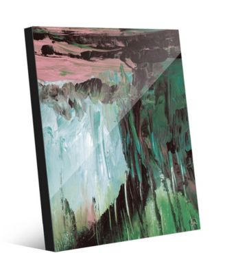 "Akoku in Teal Purple Abstract 20"" x 24"" Acrylic Wall Art Print"