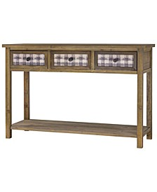 American Art Decor Rustic Wood TV Stand Entertainment Center with Drawers
