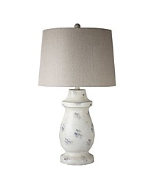 American Art Decor Concrete Table Lamp with Drum Shade