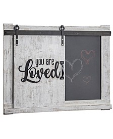 American Art Decor You Are Loved Wall Mounted Chalkboard Message Board