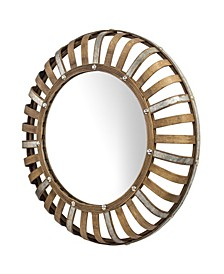 American Art Decor Bamboo and Rustic Convex Wall Mirror