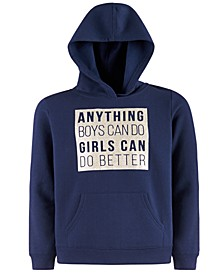 Big Girls Graphic-Print Hoodie, Created For Macy's