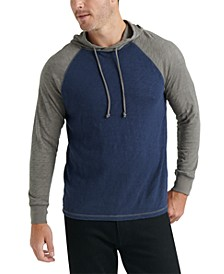 Men's Textured Colorblocked Hoodie