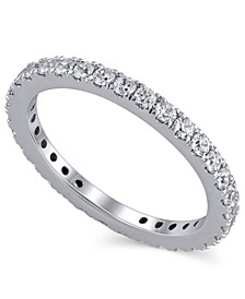 Certified Diamond (1 ct. t.w.)  Eternity Band in 14K White Gold