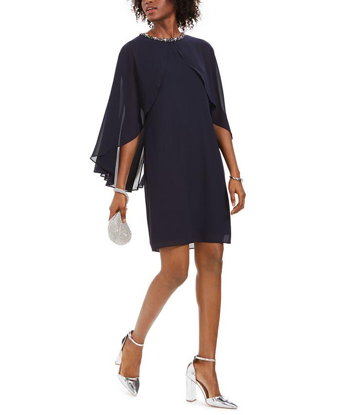 Vince Camuto - Embellished Capelet Dress