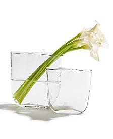 Ellipse Clear Vases - Set of 2