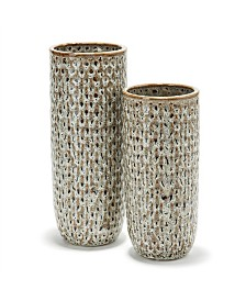 Katla Brown Speckled Vases - Set of 2