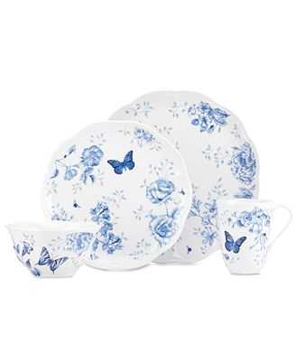 Lenox Dinnerware, Butterfly Meadow Toile 4-Piece Place Setting