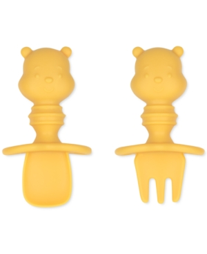 Bumkins Silicone Chewtensils In Yellow