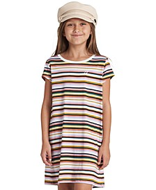 Big Girls Striped T-Shirt Dress
