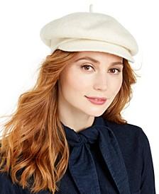 Wool Knit Newsboy Hat