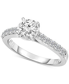 TruMiracle Solitaire Engagement Ring (1 ct. t.w.) in 14k White Gold