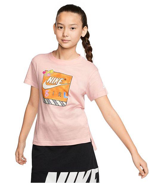 Nike Big Girls Cotton Nike Girl T-Shirt