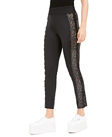 Milo Lace-Inset Pull-On Pants
