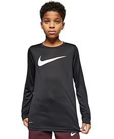 Big Boys Dri-FIT Swoosh Long-Sleeve T-Shirt