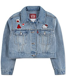 x Hello Kitty Toddler Girls Cropped Denim Jacket