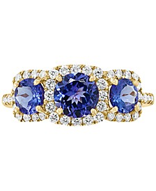 EFFY® Tanzanite (1-5/8 ct. t.w.) & Diamond (3/8 ct. t.w.) Ring in 14k Gold