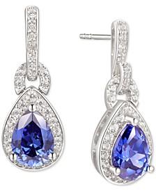 Tanzanite (1-1/4 ct. t.w.) & Diamond (1/3 ct. t.w.) Drop Earrings in 14k White Gold