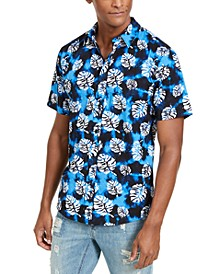 Sun + Stone Men's Tropical Tie-Dye Short Sleeve Shirt, Created For Macy's